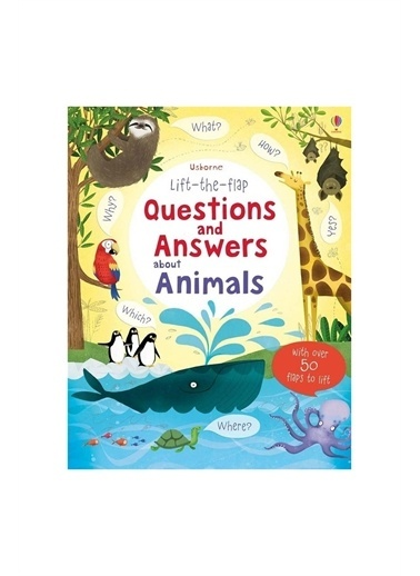 The Usborne The Usborne Lift-The-Flap Questions And Answers About Animals Beyaz